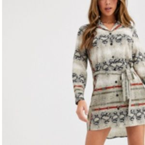 ASOS Dresses - ASOS shirt dress in snake print